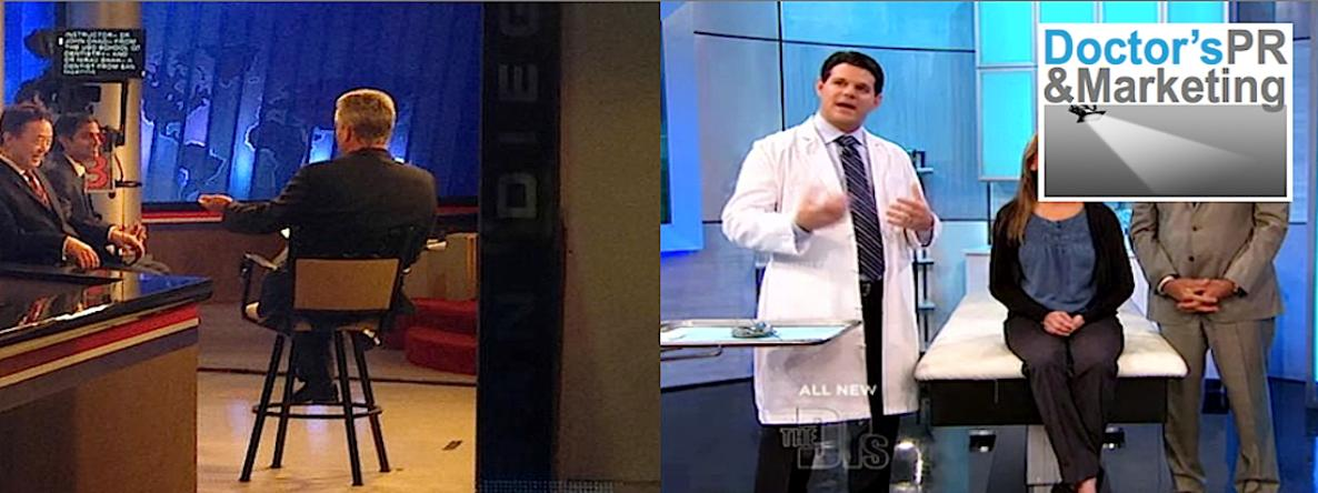 Doctor's P.R. doctor and dentist clients on T.V